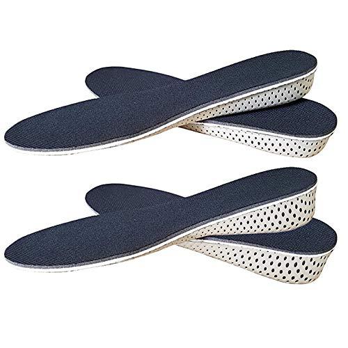 Xinlie - Solette rialzate per scarpe, altezza 2-4 cm, per uomo e donna nero Nero