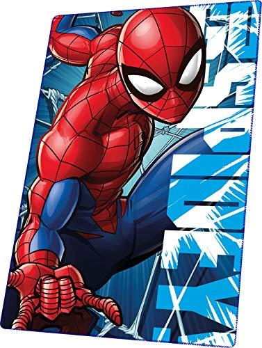 Kids Licensing | Marvel Spiderman Fleece Decke | Kinderdecke | Spiderman Fleece Decke | Kinderdecken | Wunderdecke | Abmessungen: 150x100cm | 129 g | Perfekt für den Winter