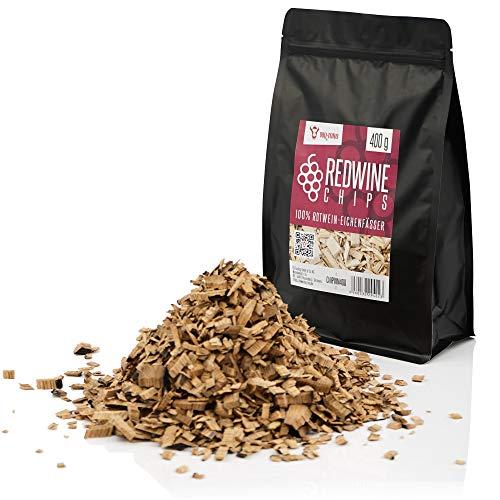 BBQ-Toro Redwine Smoker Chips (400 g) Rotwein Räucherchips | rauchintensive Smokerchips aus Eichenfässern | Grillchips für Gasgrill, Smoker, BBQ