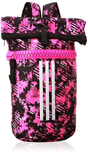 adidas Mochila militar para mujer Kickboxing, color rosa, camuflaje y plata, M