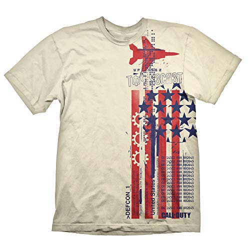 "Call of Duty: Cold War T-Shirt ""Top Secret"" Creme M"