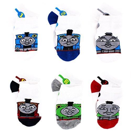 Thomas Train Infant Toddler 6 pack Socks (2T-4T, Thomas James Percy)