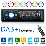 Bluetooth Car Stereo DAB+ 7 Colors Single Din Car Radio RDS/MP3/FM/AM/SD/AUX/2 USB Port