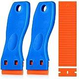 Plastic Razor Blade Scraper, 2PCS Scraper Tool with 60PCS Plastic...