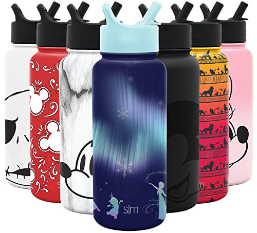 Simple Modern Adult Disney Drinkware - Incoming, 32oz Bottle, Frozen Nordic Lights