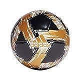 Adidas - Pallone da calcio unisex per ragazzi Capitano, nero/bianco/oro/SI, 5