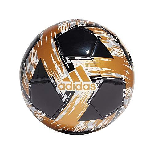 Adidas - Pallone da calcio unisex per ragazzi Capitano, nero bianco oro SI, 5