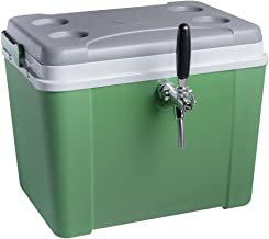 Chopeira a gelo caixa 34l para barril heineken 5l - verde com torneira italiana