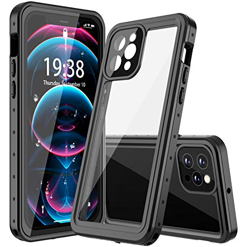 GOLDJU for iPhone 12 pro Waterproof Case,iPhone 12 pro case【2020 New】 360°Protective Built-in Screen Protector IP68 Underwater Shockproof Waterproof Case for iPhone 12 pro 6.1 inch