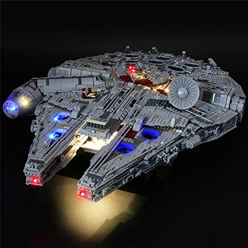Kit De Luces Led para El Halcón Milenario De Lego 75192 Star Wars, Dispositivo De Iluminación Compatible con El Modelo De Bloques De Construcción (Star Wars) (no Incluye Los Bloques)