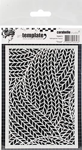Carabelle Studios TE60072 Carabelle Studio Art Template Schablone, trikot zum Gestalten von Gemusterten Hintergründen und Erstellen von Kunstwerken und Bastelprojekten