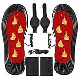Lixada Plantillas Calefactables Portátiles Lavables USB Calentador de Pies Eléctrico Plantillas Térmicas Cortables(Tamaño de Calzado:35-46)