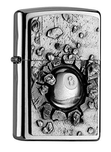 Zippo Zippo PL Billard-Design Black 8 Ball Feuerzeug, Messing, Edelstahl, 1 x 3,5 x 5,5 cm Edelstahl