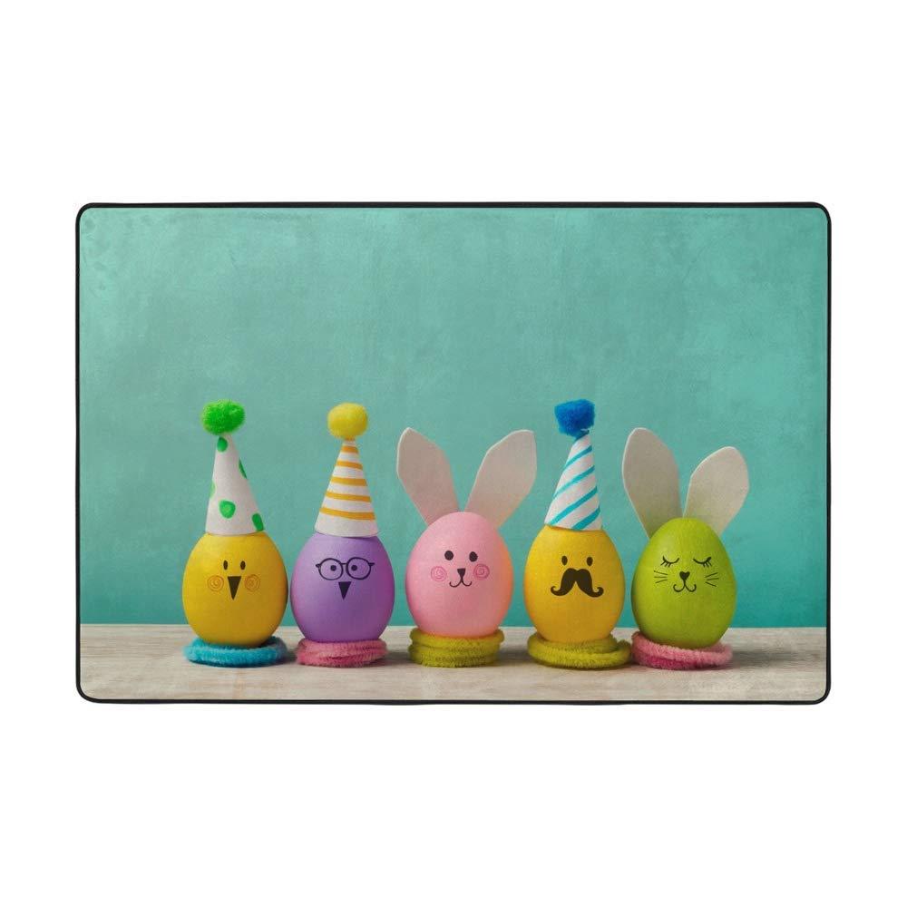 Soft Popularity Rug Comfortable Indoor Carpet Easter Eggs Handmade Cute Japan's largest assortment La