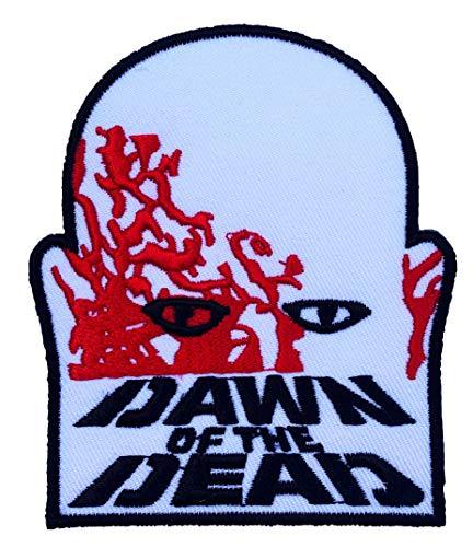 Dawn Of The Dead Logo Patch (9cm) DIY Nähen oder Bügeln bestickt auf Badge Aufnäher Horror Film Poster Night Living Zombies Souvenir Kostüm