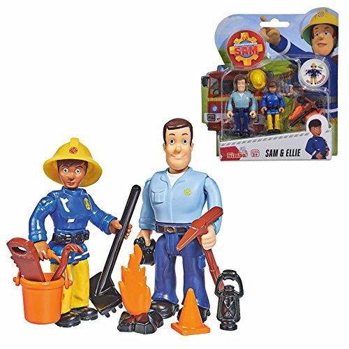 Feuerwehrmann Sam Sam & Ellie Spiel Figuren Set | Simba Toys
