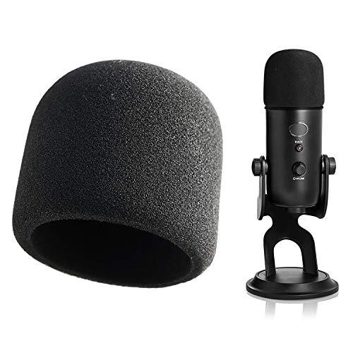 Espuma Paraviento Micrófono Parabrisas para Blue Yeti, Yeti Pro Condenser Micrófono como Pantallas y filtros anti-pop por YOUSHARES (Negro)