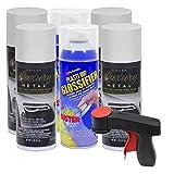 Plasti Dip Rim Kit: 4 Aerosol Cans Luxury Glacier White Metallic, 2 Aerosol Cans Glossifier, 1 Cangun …