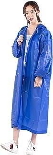 ZXQZ レインコートアダルトアウトドアトラベル登山レインコートプラス厚い防水ロングレインポンチョ4色オプション ポンチョ (色 : 青)