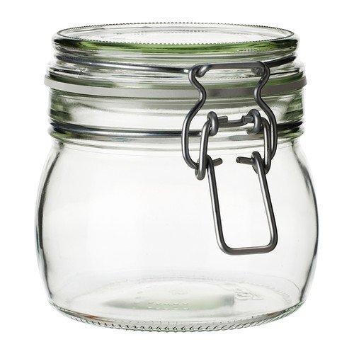 KORKEN/ふた付き容器/クリアガラス(サイズ0.5L)[イケア]IKEA(00213544)