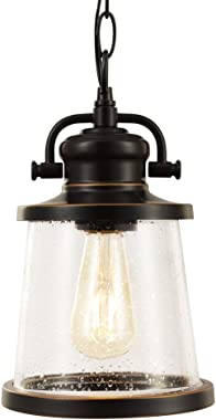 Globe Electric 44231 Charlie Outdoor Pendant, Oil Rubbed Bronze