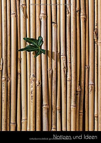 Notizen und Ideen: Großes Bambus Notizbuch | Tagebuch DIN A4, kariert. Nachhaltig & klimaneutral.