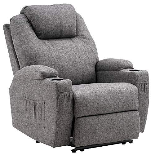 MCombo 7061 - Sillón de relax eléctrico con función de vibración y calefacción