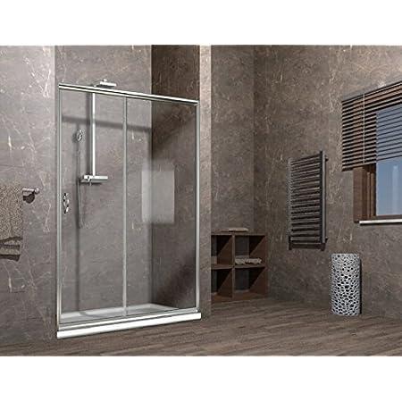 147//151cm 150cm Porta doccia scorrevole nicchia cristallo 6mm trasparente box doccia ELISIR