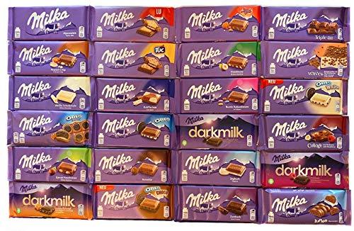 Milka Schokolade Mischpaket 24 Tafeln
