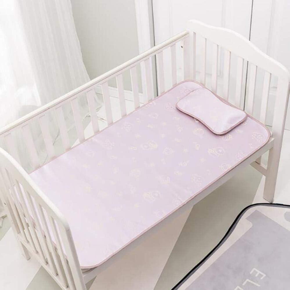 JPZCDK 2 pièces/Ensemble Housse de Matelas pour bébé Drap delit avec taie d'oreillerbébé été Cool Mat Impression Pad Tapis de lit, Jaune Purple