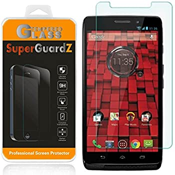 [2-Pack] For Motorola DROID Maxx  2013 Release For Verizon  - SuperGuardZ® Tempered Glass Screen Protector 9H 0.3mm 2.5D Round Edge Anti-Scratch Anti-Bubble [Lifetime Warranty]
