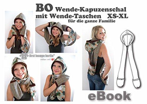BO Nähanleitung mit Schnittmuster auf CD für Wende-Kapuzenschal mit Handschuh-Taschen, Hoody-Schal, Wendeschal