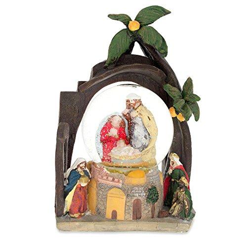 BESTPYSANKY Nativity Scene Water Snow Globe 9.5 Inches