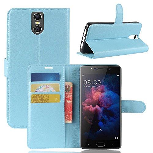 Tasche für Doogee BL7000 Hülle, Ycloud PU Kunstleder Ledertasche Flip Cover Wallet Case Handyhülle mit Stand Function Credit Card Slots Bookstyle Purse Design blau