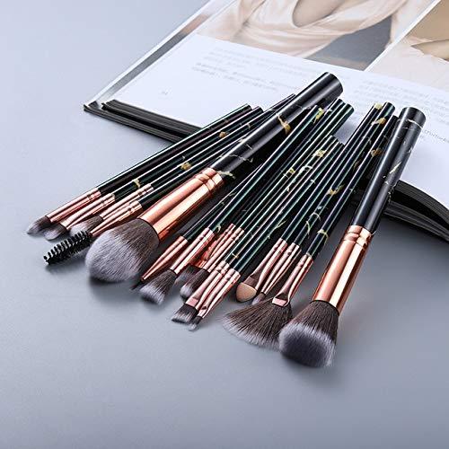 5/15 makeup brush set makeup powder eye shadow foundation blush mixed beauty makeup Kabuki brush tool - 15pcs black