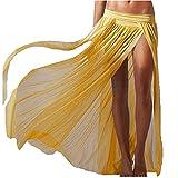 L-Peach Vestido de Malla Bikini Cover Up para Playa, Color Amarillo