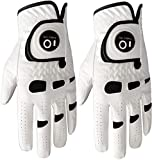 Men's Golf Glove Left Hand Right with Ball Marker Value 2 Pack, Weathersof Grip Soft...