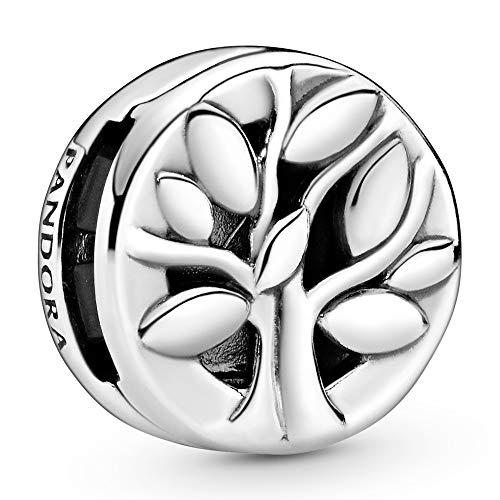 PANDORA Colgante con diseño de árbol de la vida, plateado