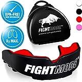 weletix Protège-Dents Professionnel | + boîte + Max. O2 + BPA Protection Dentaire sans BPA | Maintien sûr dans Les Sports de Combat | Boxe MMA, Krav MAGA (Hot Red)