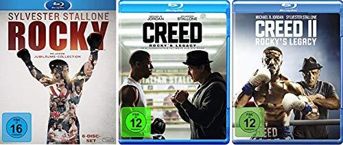 Rocky 1-6 Complete Saga Box + Creed - Rocky's Legacy Teil 1+2 [Blu-ray Set]