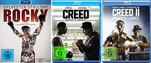 Rocky 1-6 Complete Saga Box + Creed - Rocky's Legacy Teil 1+2 [Blu-ray Set]