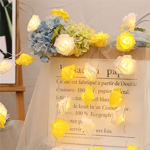 Guirnalda de Luces LED 3M 30 LED Rosas Luces de Decoración de Flores Románticas para San Valentín, Navidad, Bodas…