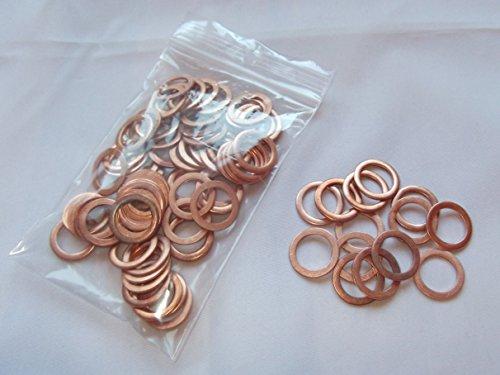100 Stück Kupferringe/Dichtringe 14x20 x1,5 mm Din 7603 Form A