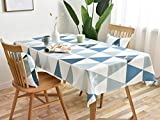 MODERN HOMES Printed Cotton Tablecloth for Dining Table, Patio Table, Picnic Table, Hotel Buffet Table; Blue Table Cover 55x70 inches (4-6 Seater)