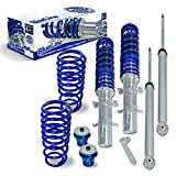 JOM Euro Height Adjustable Coilover Suspension Lowering Kit For VW Golf Jetta MK4 4 New Beetle - Adjustable 20-100mm / 0.8'-3.94'