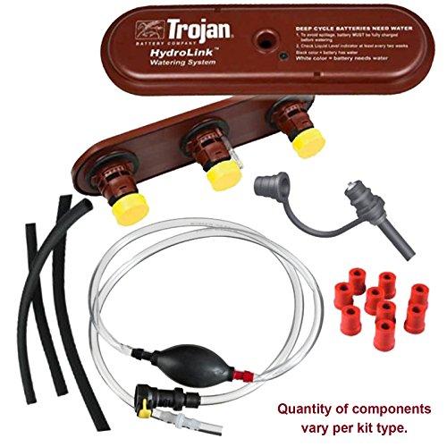 Trojan HydroLink Watering System for 48V Club Car 8V Battery Kit, Plus HANDPUMP