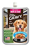VitaGravy Skin and Coat Supplement, Delicious Herb Roasted Chicken Flavor – For Dogs of All Ages, Sizes, Breeds – 11 Ounce, up to 44 Servings