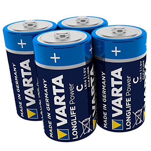 VARTA Longlife Power C Baby LR14 Batterie (4er Pack) Alkaline Batterie - Made in Germany - ideal für Spielzeug Taschenlampe CD-Player und andere batteriebetriebene Geräte