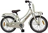 .Volare Bicicleta Niña Excellent 18 Pulgadas Freno Delantero al Manillar y Trasero Contropedal Portabultos Nacarado 95% Montado