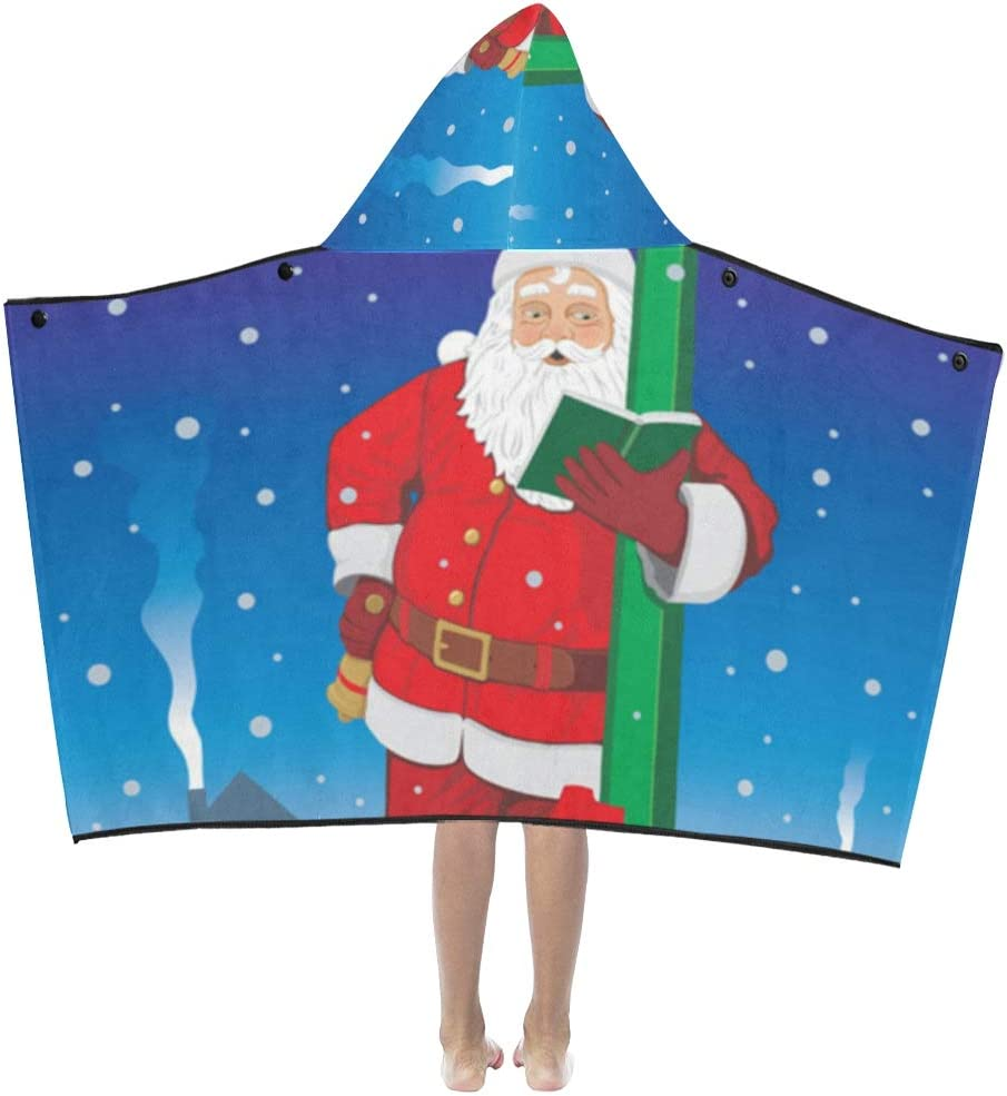 JIAJIA Max 58% OFF Kid Blanket Santa Claus Kids Hooded Limited time sale Book Reading